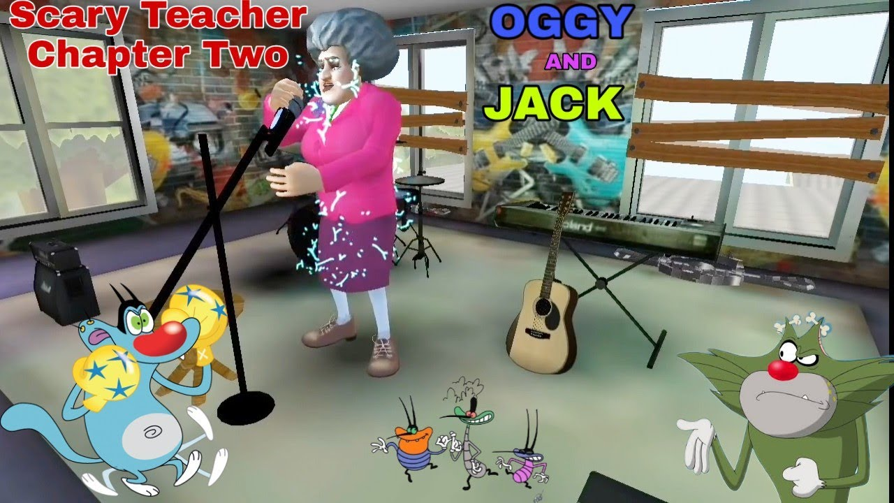 Oggy And Jack Play Scary Teacher Chapter Two ( Oggy हिन्दी )