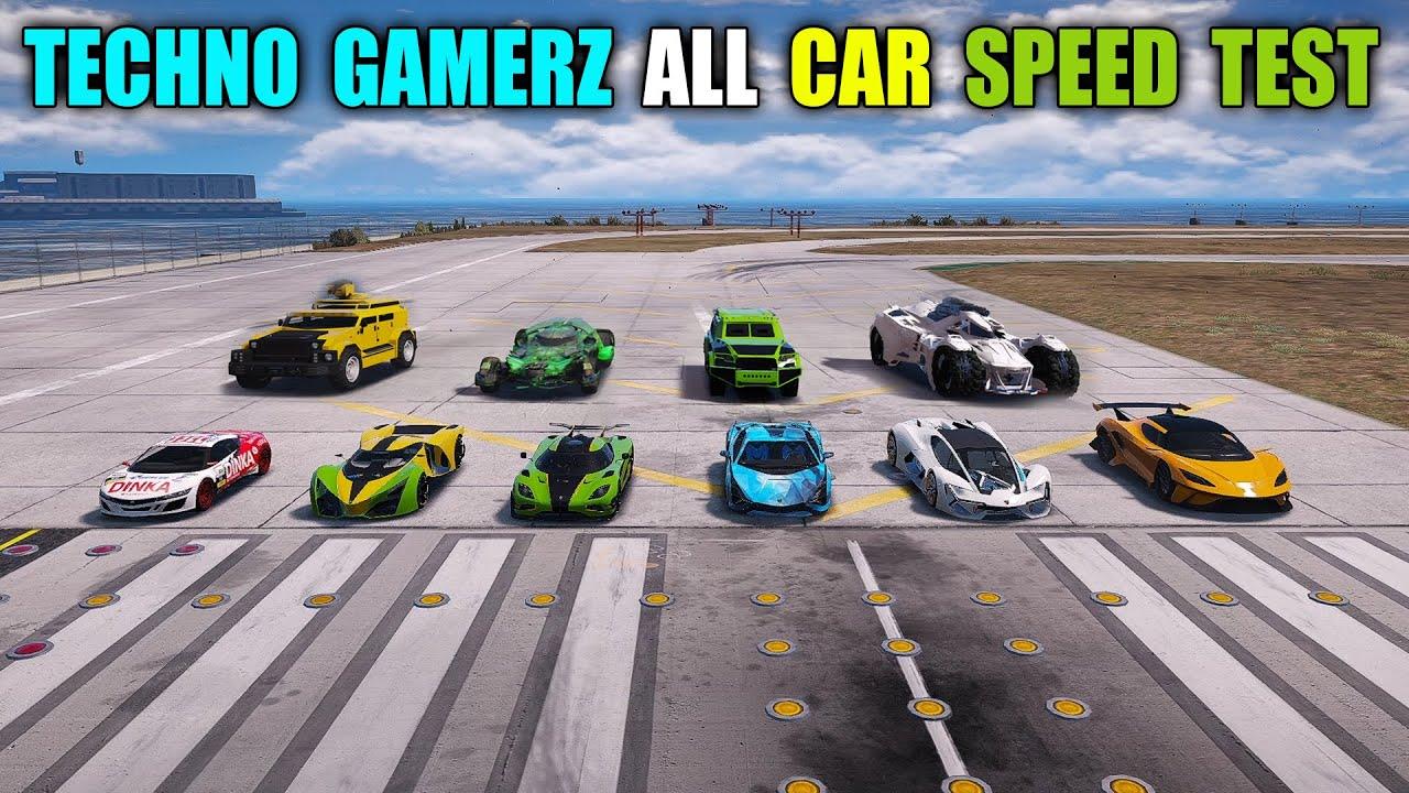 GTA 5 : TECHNO GAMERZ'S ALL CARS SPEED TEST | LAMBORGHINI TERZO,SIAN,DINKA JESTER,K.AGERA,TYRANT ETC