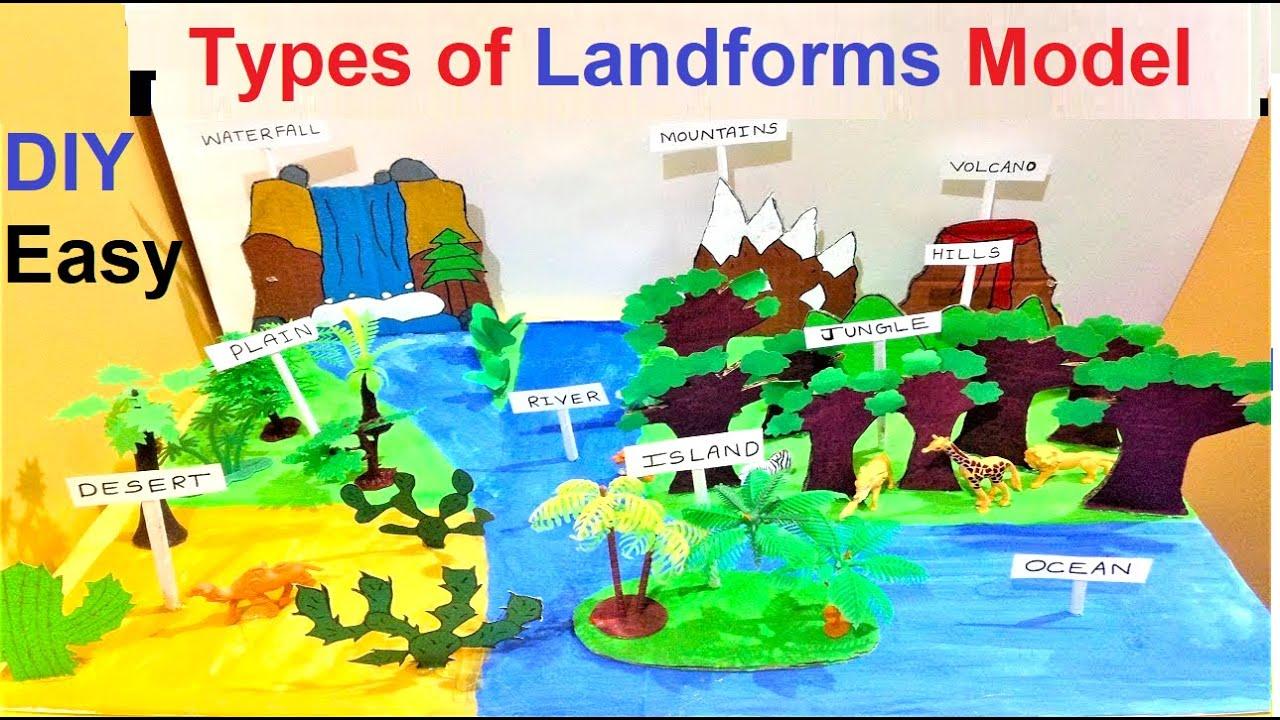 landform model for school project   3D model   Science exhibition