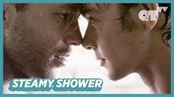 Gay Men Kiss In The Steamy Shower   Gay Romance   'Steel' P.4