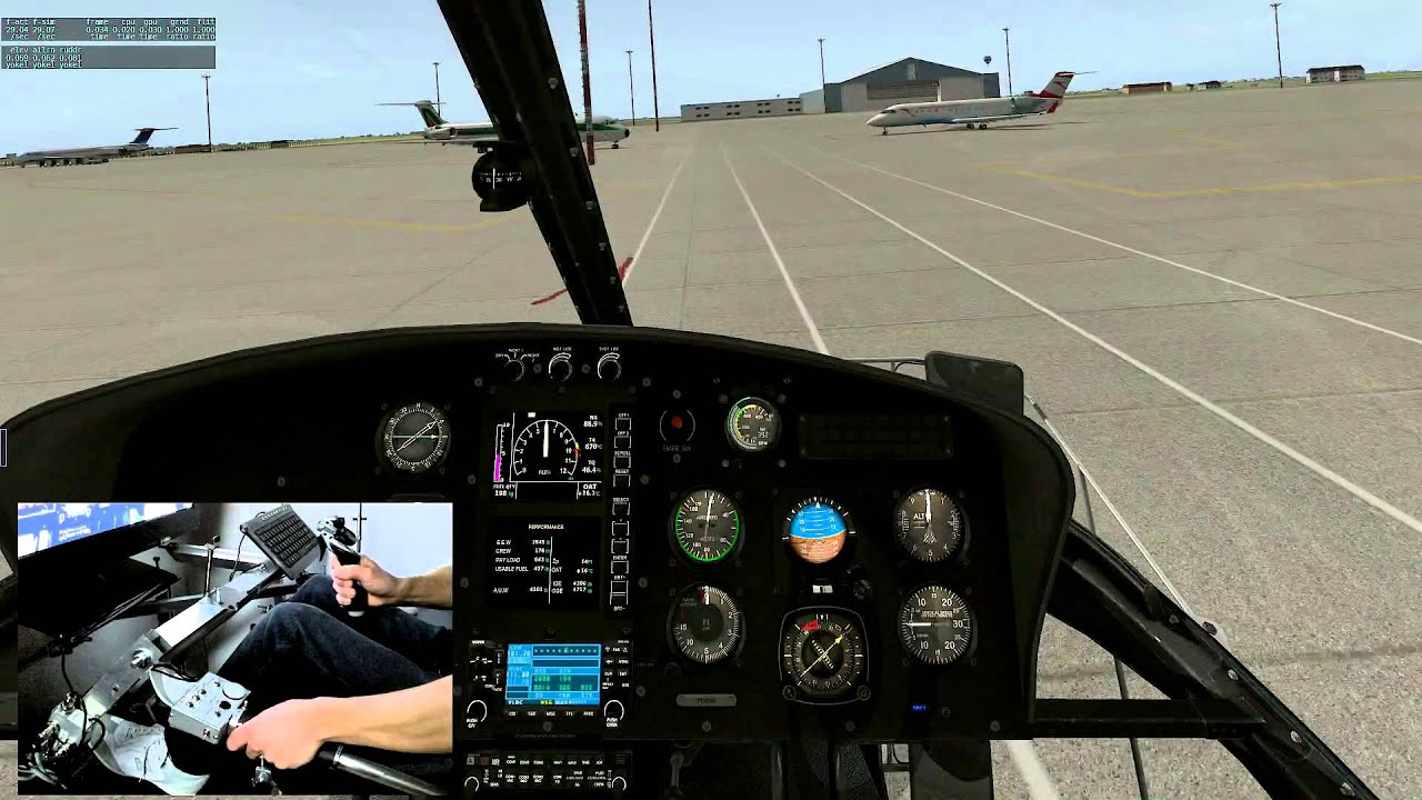 [X Plane ] Homemade cyclic control for helicopter sim