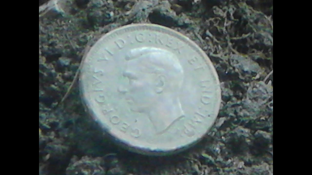Metal Detecting ' 1942 King George VI penny ' in -10 C weather brrrr