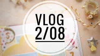 VLOG 2/08: про покупки и дембельский альбом в бархате/ Скрапбукинг
