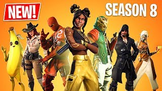 Fortnite Saison 8 Gameplay! Nouvelle saison 8 Battle Pass, Nouvelle Carte et Nouveaux Skins ! (Fortnite Battle Royale)