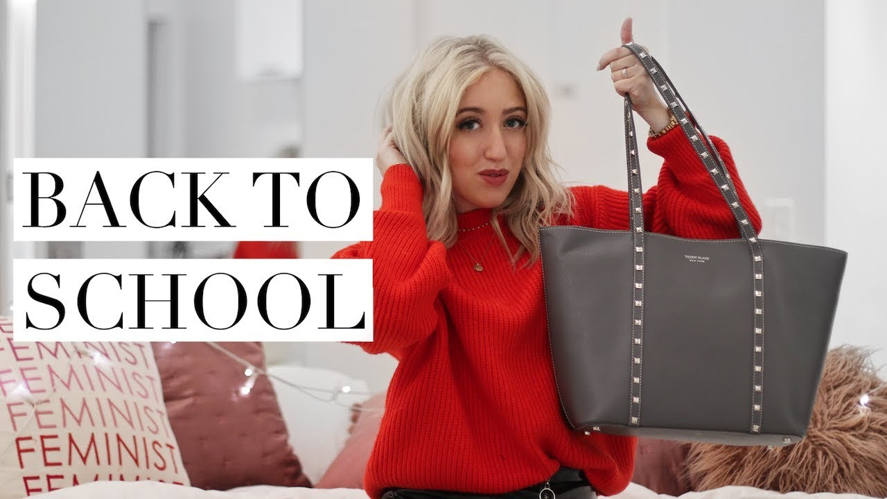 922d8b0da WHAT'S IN MY SCHOOL BAG | Back To School/University 2017 - YouTube