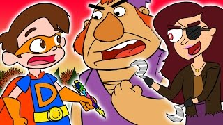 Super Drew Saves Snow White and Battles Giants! | A Stupendous Drew Pendous Super Hero Story