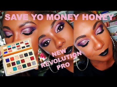 BEFORE YOU BUY!! *NEW* Revolution Pro ALL THAT GLISTENS Palette - Not What I Expected thumbnail