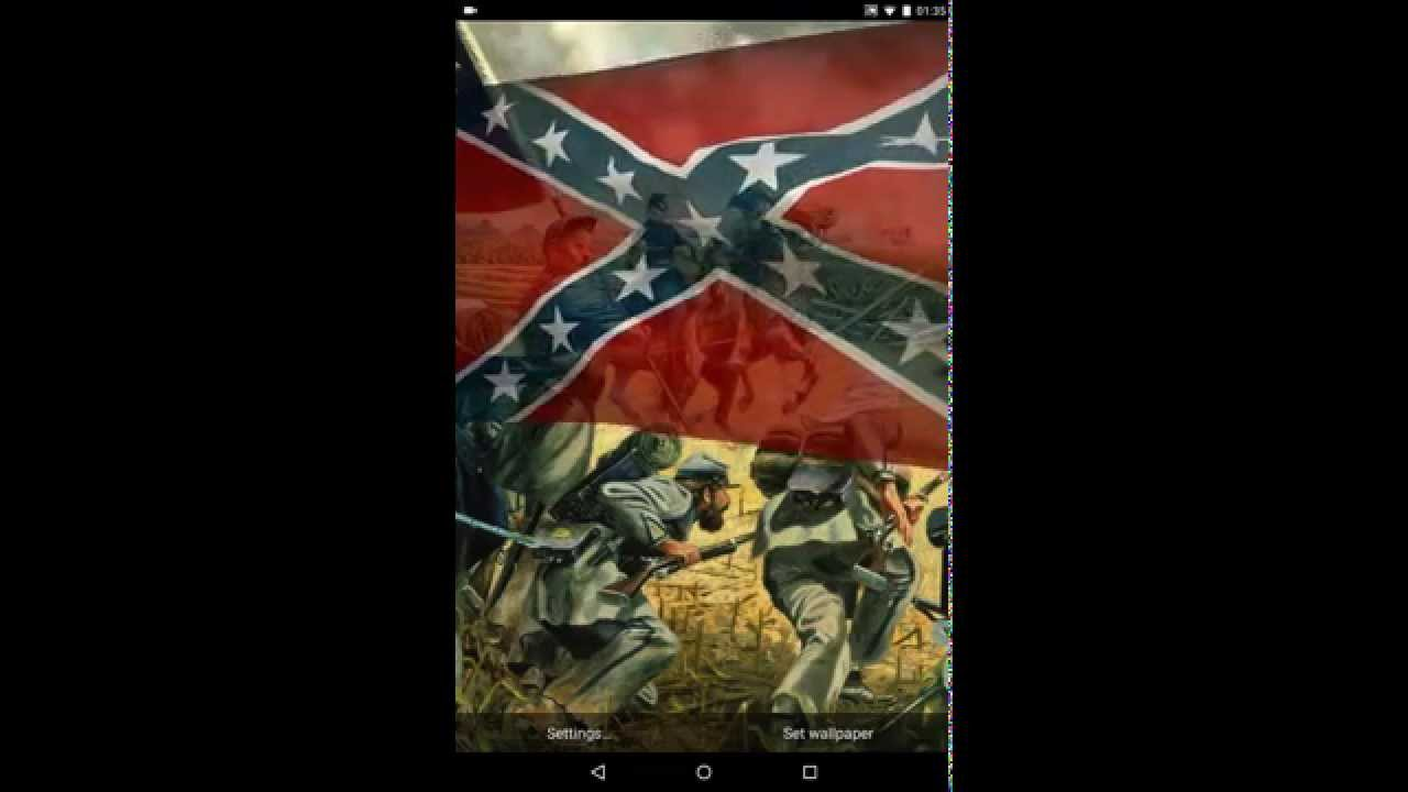 Rebel Flag Live Wallpaper - YouTube