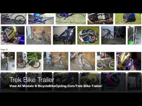 Trek Bike Trailer Jogger Models With Bicycle Hitch