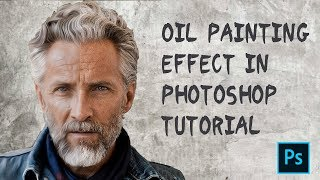 How to transform photo to oil painting in photoshop