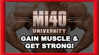 Gain Muscle, Get Strong, Muscular, Add Strength, Muscles Intent and Biomechanics