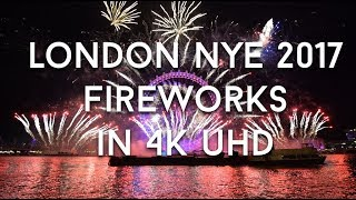London New Year's Eve 2017 Fireworks (Full Show 4k UHD)