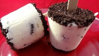 Cookies and Cream Pudding Pops -with yoyomax12