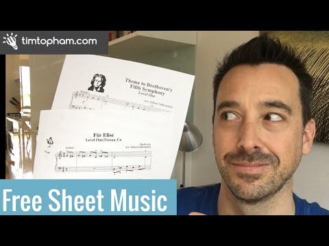 Where to get Free Beginner Piano Sheet Music