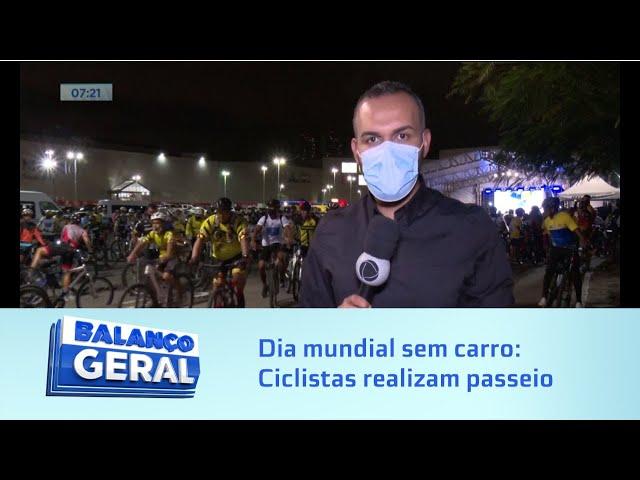 Dia mundial sem carro: Ciclistas de Maceió se reúnem em um passeio pela capital para marcar a data