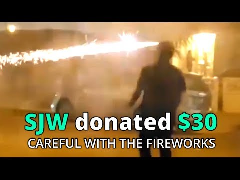 FIREWORK FIGHT GONE WRONG - 4th of July with Text to Speech