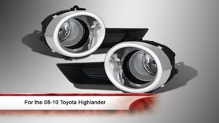 2008-2010 Toyota Highlander Fog Light with Switch