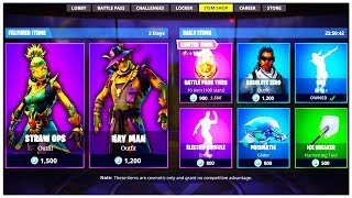 "*NEW* FORTNITE SCARECROW SKINS! ""HAY MAN"" and ""STRAW OPS"" SKINS Fortnite Battle Royale (Swishyy)"