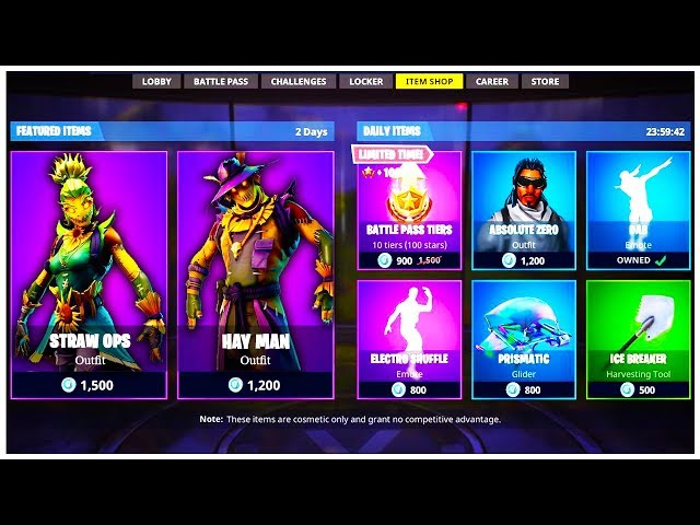 *NEW* FORTNITE SCARECROW SKINS! HAY MAN and STRAW OPS SKINS Fortnite Battle Royale (Swishyy)