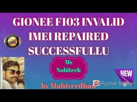 Gionee f103 Invalid Imei Repaired Successfully/ जिओनी F103 इनवेलिड आईएमइआई  रिपेयर सक्सेसफुली