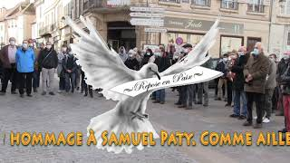 Mercredi 21 octobre 2020, Hommage à Samuel Paty.