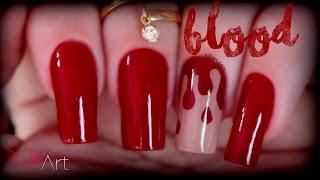 Nail Art Blood (Halloween) - Nill Art
