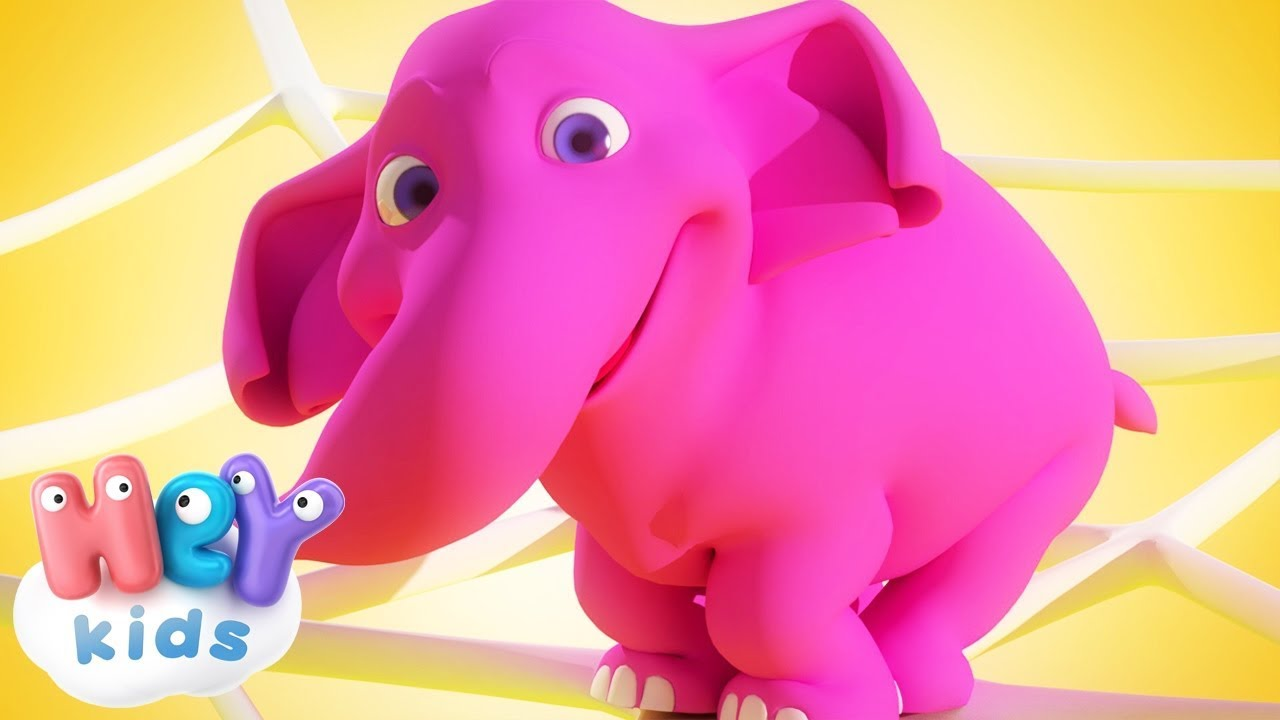 The Elephant song 🐘 One Elephant Went Out To Play | HeyKids - Nursery Rhymes