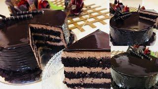 Super tasty chocolate truffle cake recipe || Chocolate cream frosting || ചോക്ലേറ്റ് ട്രഫിൾ കേക്ക്...
