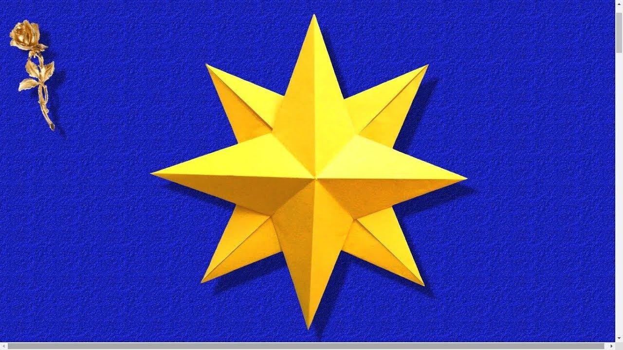 Origami Facile Etoile Rose Des Vents Youtube