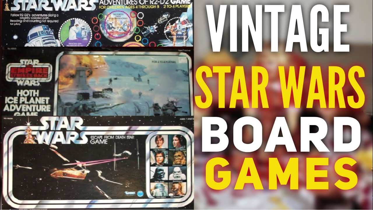 Vintage STAR WARS Board Games - YouTube