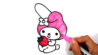 How to Draw My Melody l Sanrio Cartoon