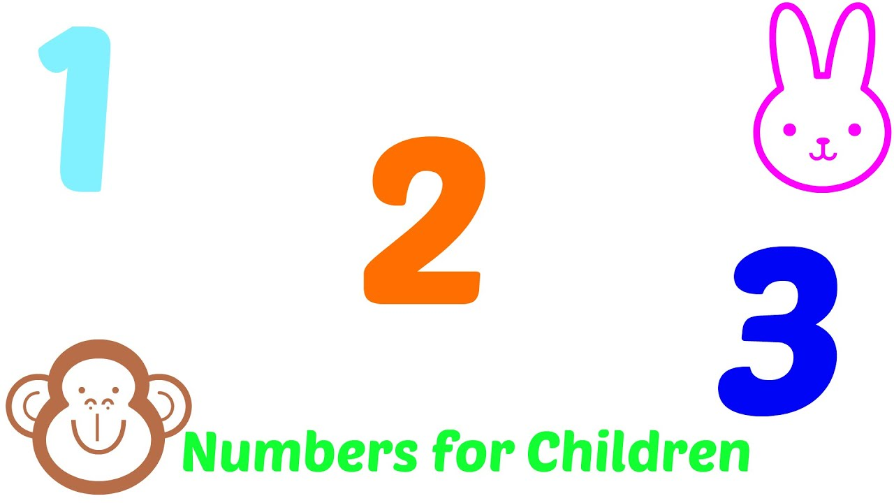 1 2 3 numbers song for kids youtube