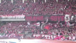 Urawa Reds supporters chant Go West@kawasaki 浦和レッズサポーター