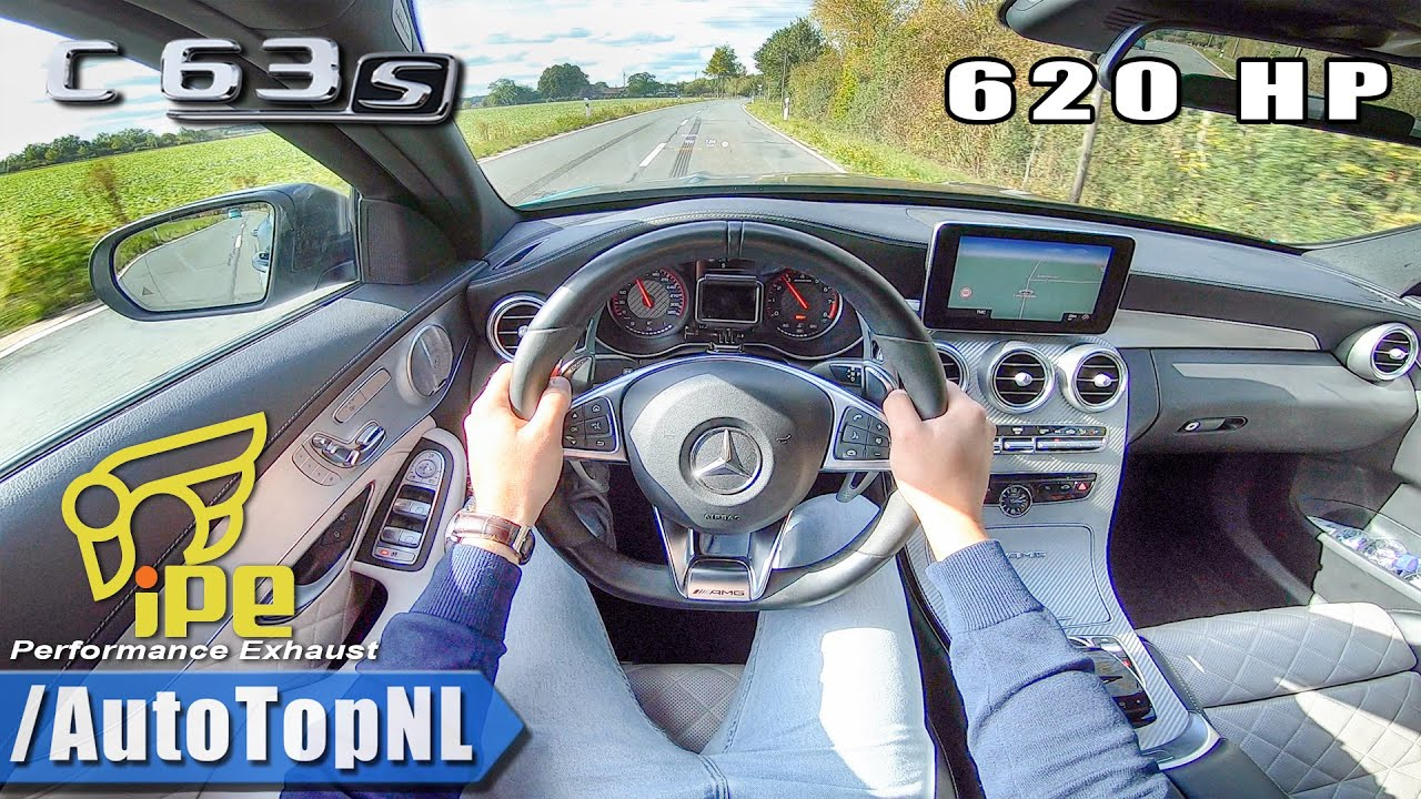 620HP Mercedes AMG C63 S LOUD! iPE Exhaust POV Test Drive by AutoTopNL