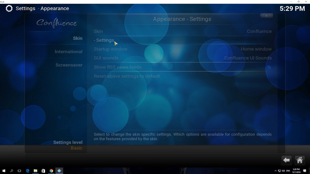 How to Enable Show Background Now Playing Video in Kodi