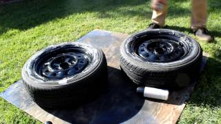 homepage tile video photo for Painting the 240sx's Wheels