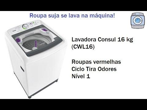 Lavadora Consul 16 kg (CWL16) - Roupas vermelhas/Ciclo Tira odores