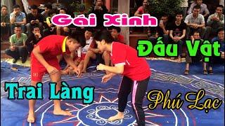 Female wrestler challenges male wrestler - Phu Lac Pagoda - Phu Xuan Thai Binh City
