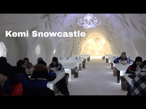 Snowcastle of Kemi in Lapland Finland - 2017 - Kemin Lumilinna - Lappi