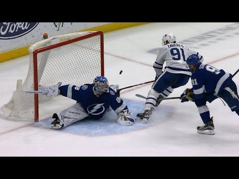 Andrei Vasilevskiy returns from injury for two spectacular saves