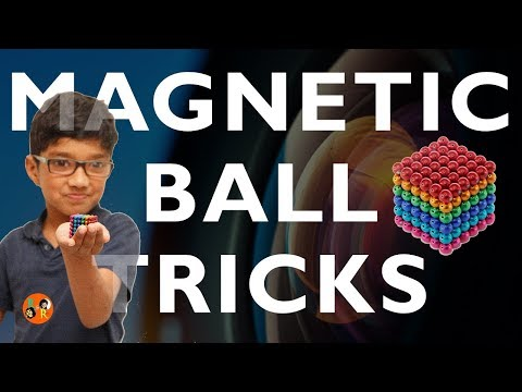 Fun and Exciting Tricks with little Colorful Magnetic Balls for Kids