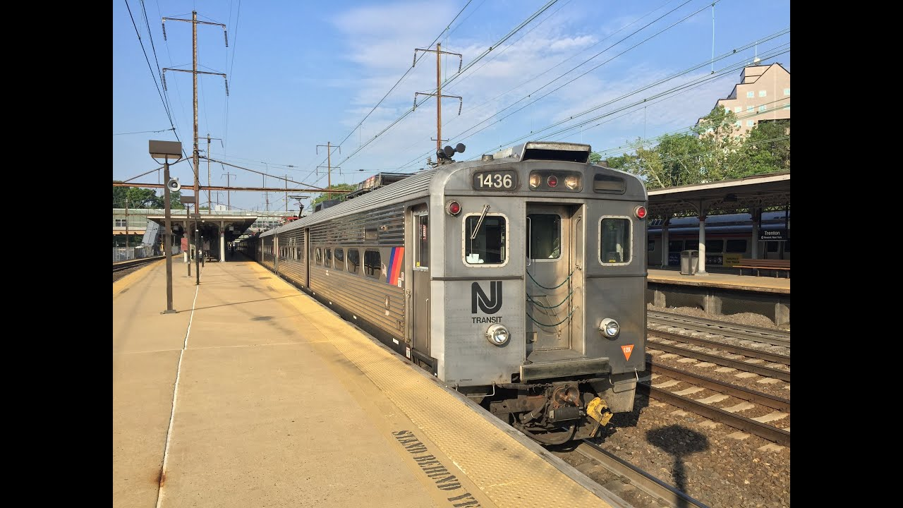nj transit hd 60fps riding train 3830 trenton to new york penn station 8 car arrow iii emu. Black Bedroom Furniture Sets. Home Design Ideas