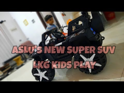 ASLU'S NEW SUPER SUV TOY JEEP REVIEW   LKG KIDS PLAY