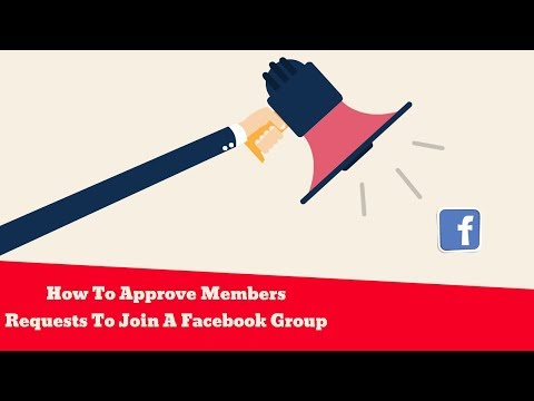 how to approve members in facebook group