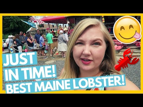 WE WERE JUST IN TIME! 😋Best Lobster Rockland, Maine! 🍽Full Time RV Living