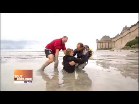 Les sables mouvants au mont saint michel youtube for Au jardin st michel pontorson
