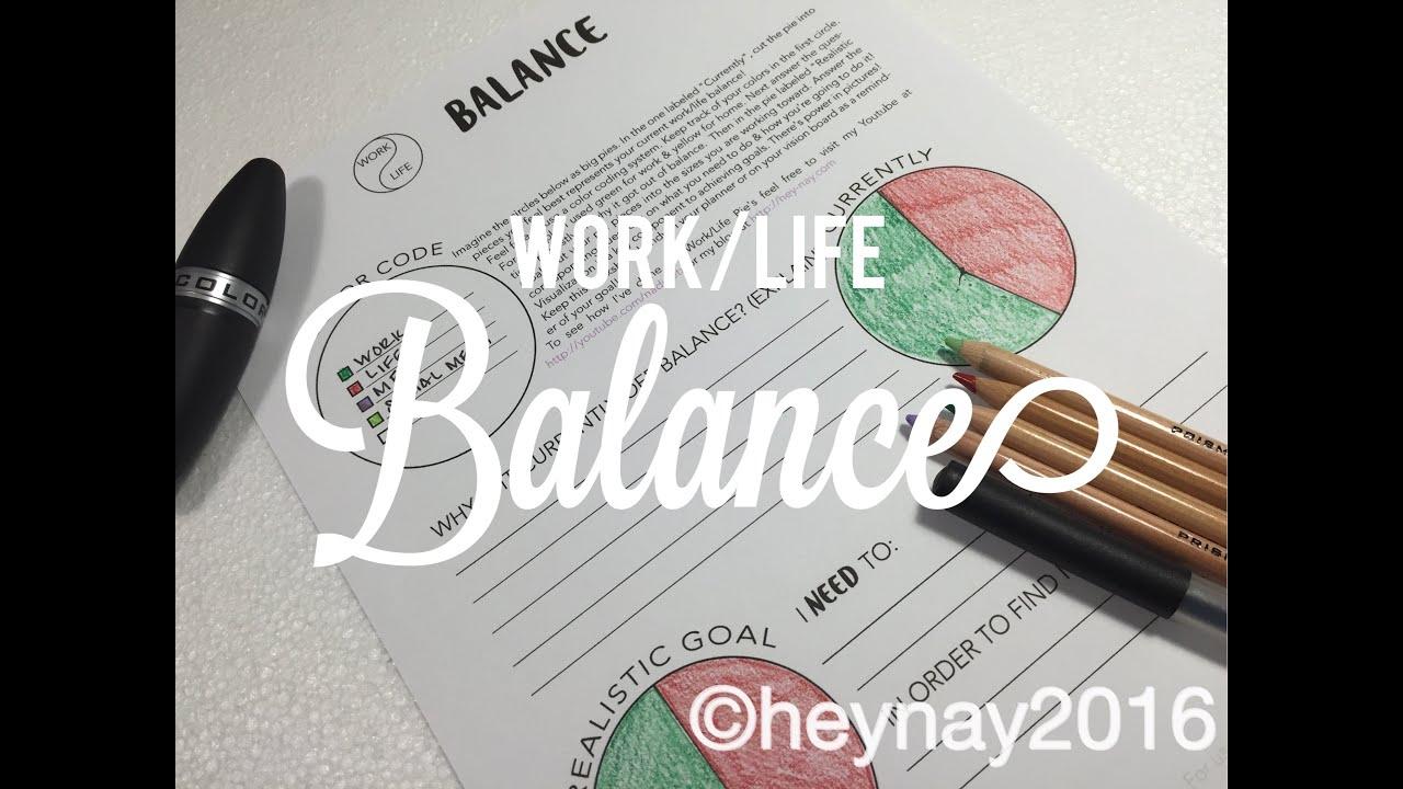 Work Life Balance Bonus Worksheet