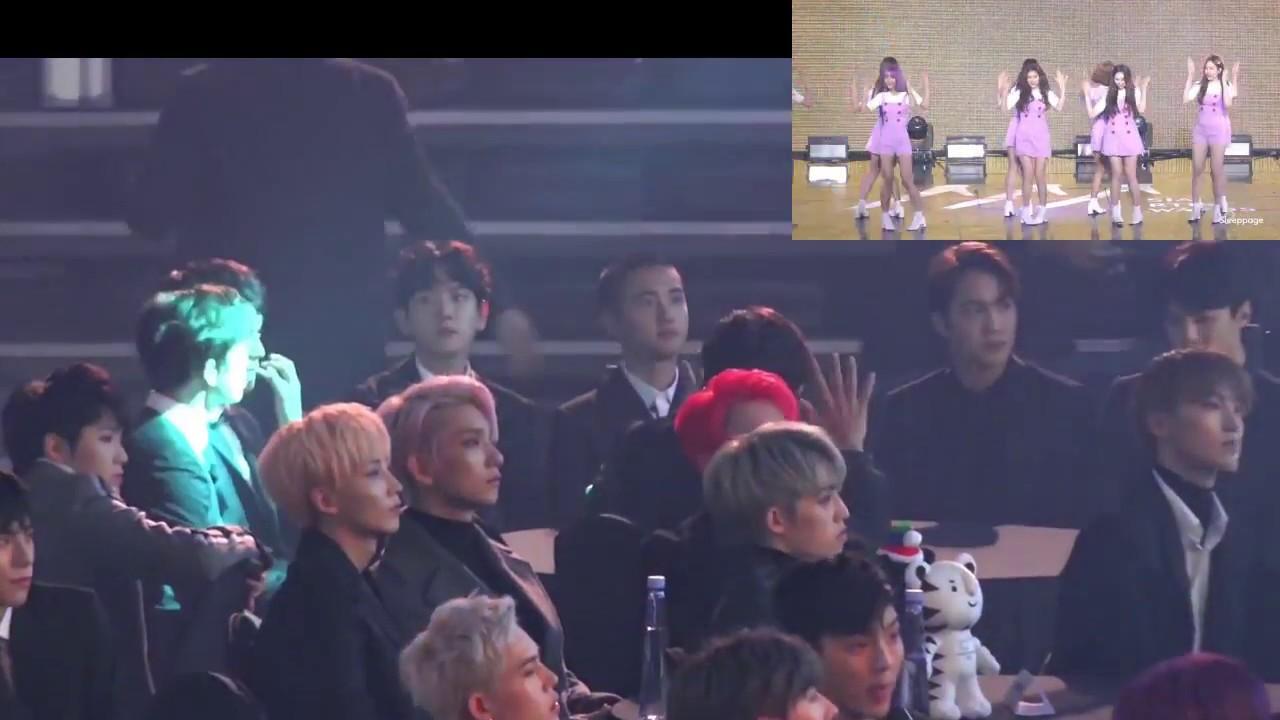 EXO Seventeen MONSTA X and more reaction to momoland @ AAA 2017
