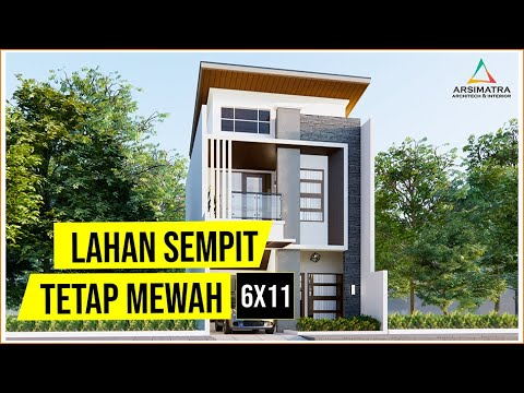 Tetap Cantik Di Lahan Terbatas Desain Rumah 6x9 2 Lantai Di Lahan 6x11 Youtube