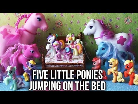 Five Little Ponies Jumping On The Bed Nursery Song | My Little Pony MLP Friendship Is Magic